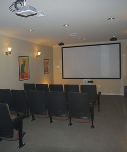 The Movie Theater Inside San Gabriel Senior Village Living Community in Georgetown TX