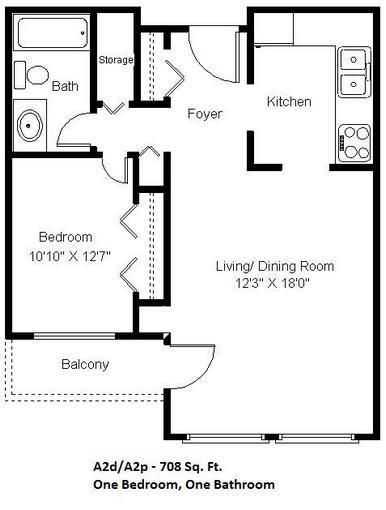 1 Bedroom (A2)