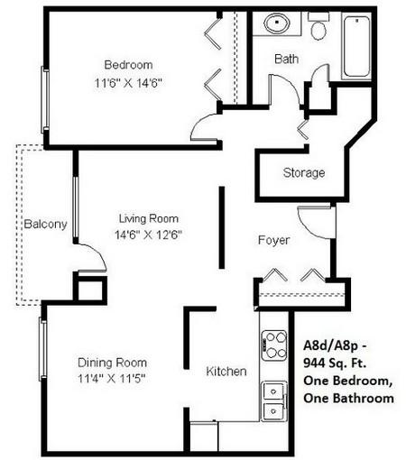 1 Bedroom (A8)