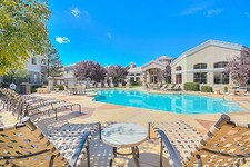 Relax in the Beautiful Pool on Hot Summer Days at Arterra Luxury Apartments in Albuquerque