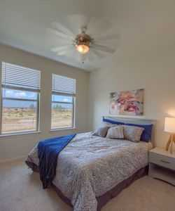 Our Odessa apartment community features ceiling fans in the bedrooms