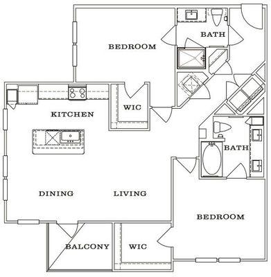Layout of B1 floor plan