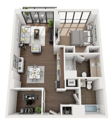 Layout of A2 floor plan