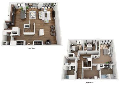 Layout of Penthouse Aurora floor plan