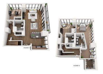 Layout of Penthouse Geneva floor plan