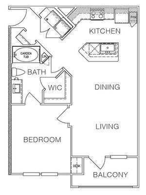 Layout of A1 floor plan