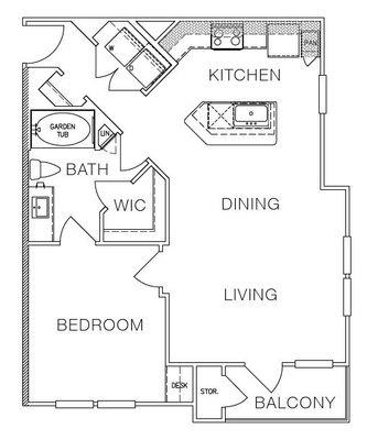 Layout of A1a floor plan