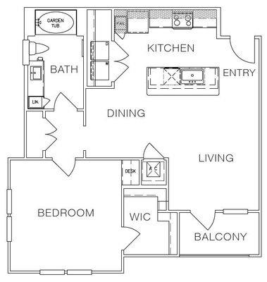 Layout of A2a floor plan