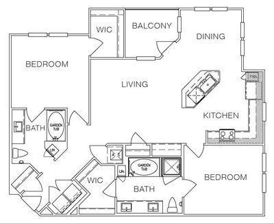 Layout of B2 floor plan