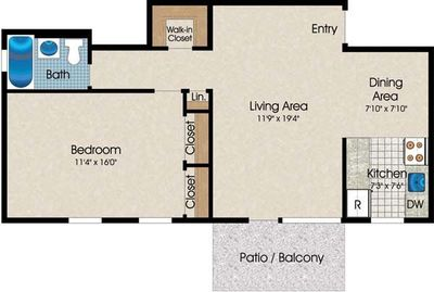 Layout of A3 floor plan