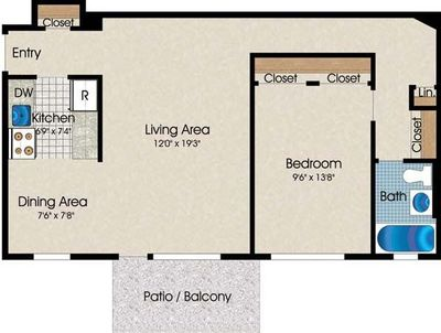 Layout of A4 floor plan