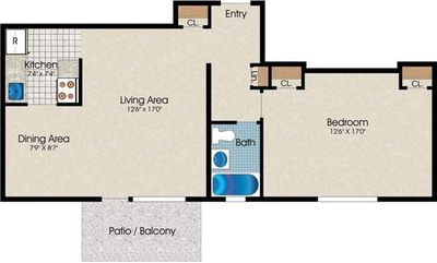 Layout of A5 floor plan