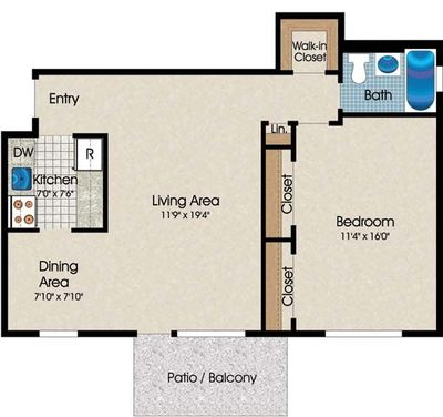 Layout of A6 floor plan