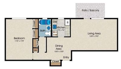 Layout of A8 floor plan
