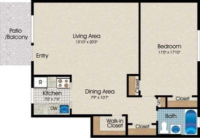 Layout of A9 floor plan