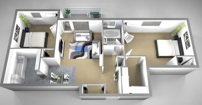 Layout of B3 floor plan