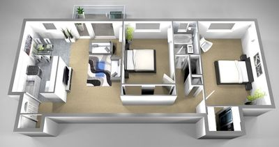 Layout of B5 floor plan