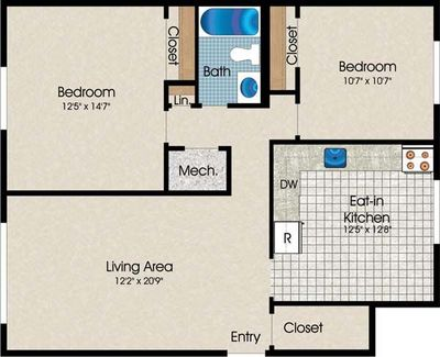 Layout of TH01 floor plan