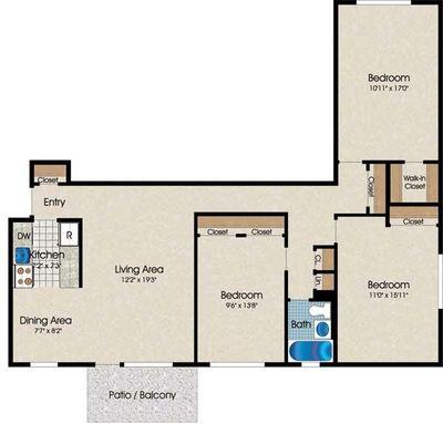 Layout of C1 floor plan