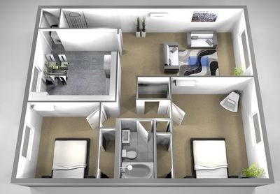 Layout of TH02 floor plan