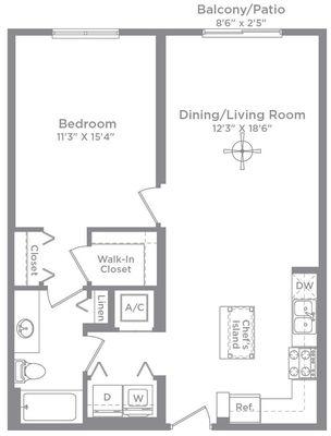 Layout of Aberdeen 1 floor plan