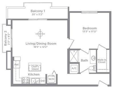 Layout of Aberdeen 12 floor plan