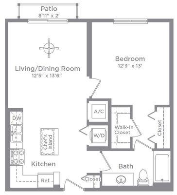 Layout of Aberdeen 14 floor plan
