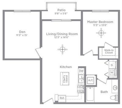 Layout of Aberdeen A3D floor plan