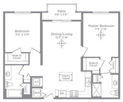 Layout of Bordeaux 1 floor plan