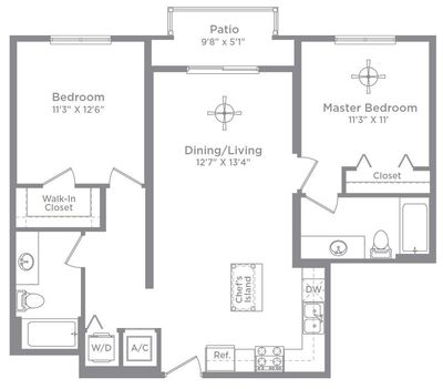 Layout of Bordeaux 1 (ALT A) floor plan