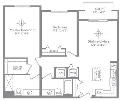 Layout of Bordeaux 1 (ALT) floor plan
