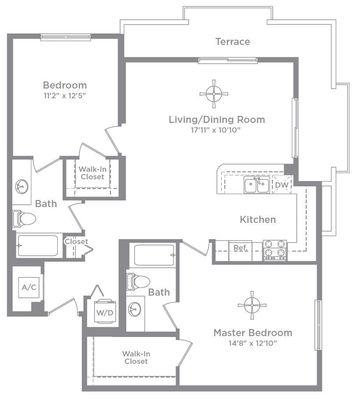 Layout of Bordeaux 12 floor plan
