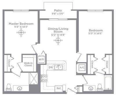 Layout of Bordeaux 1A floor plan