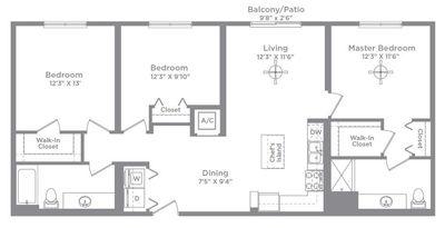 Layout of Cameo 1 floor plan