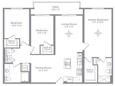 Layout of Cameo 2 floor plan