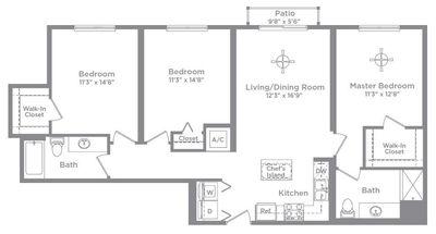 Layout of Cameo 3 floor plan