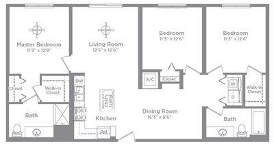 Layout of Cameo 4 floor plan