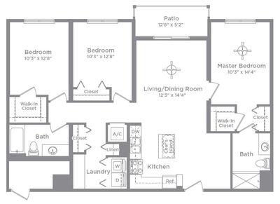 Layout of Cameo 5 floor plan