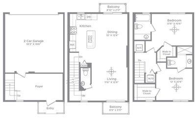 Layout of Teva 2 floor plan