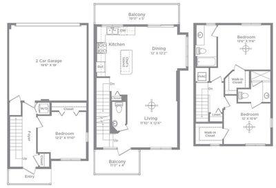Layout of Teva 3 floor plan