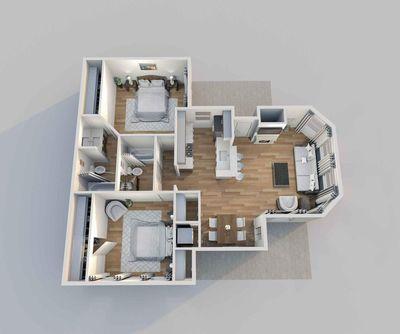 Layout of Belmont floor plan