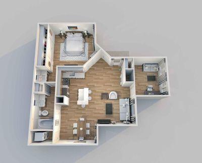 Layout of Saratoga floor plan