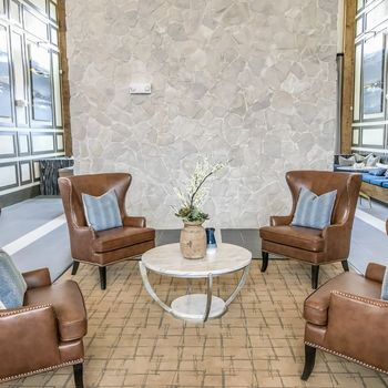 Clubroom with seating area