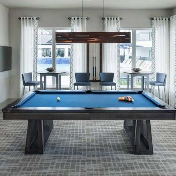 Pool table in resident clubhouse