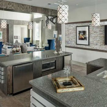 Entertainment kitchen in resident clubhouse