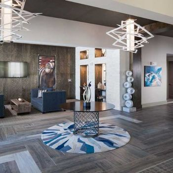 Lobby of resident clubhouse