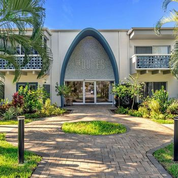 The Dunes Indian Harbour Beach, Florida entryway to clubhouse