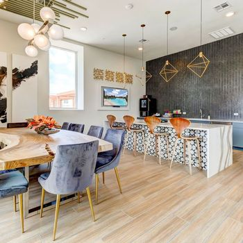 Entertainment kitchen and dining table