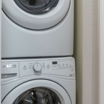 White washer and dryer.