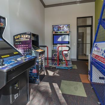 clubroom with gaming areas